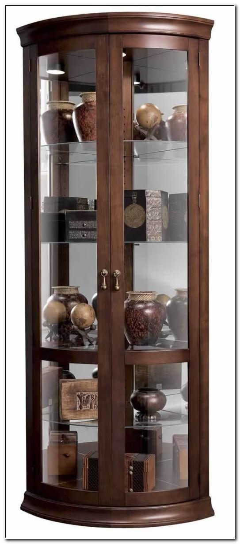 Cherry Corner Curio Cabinet