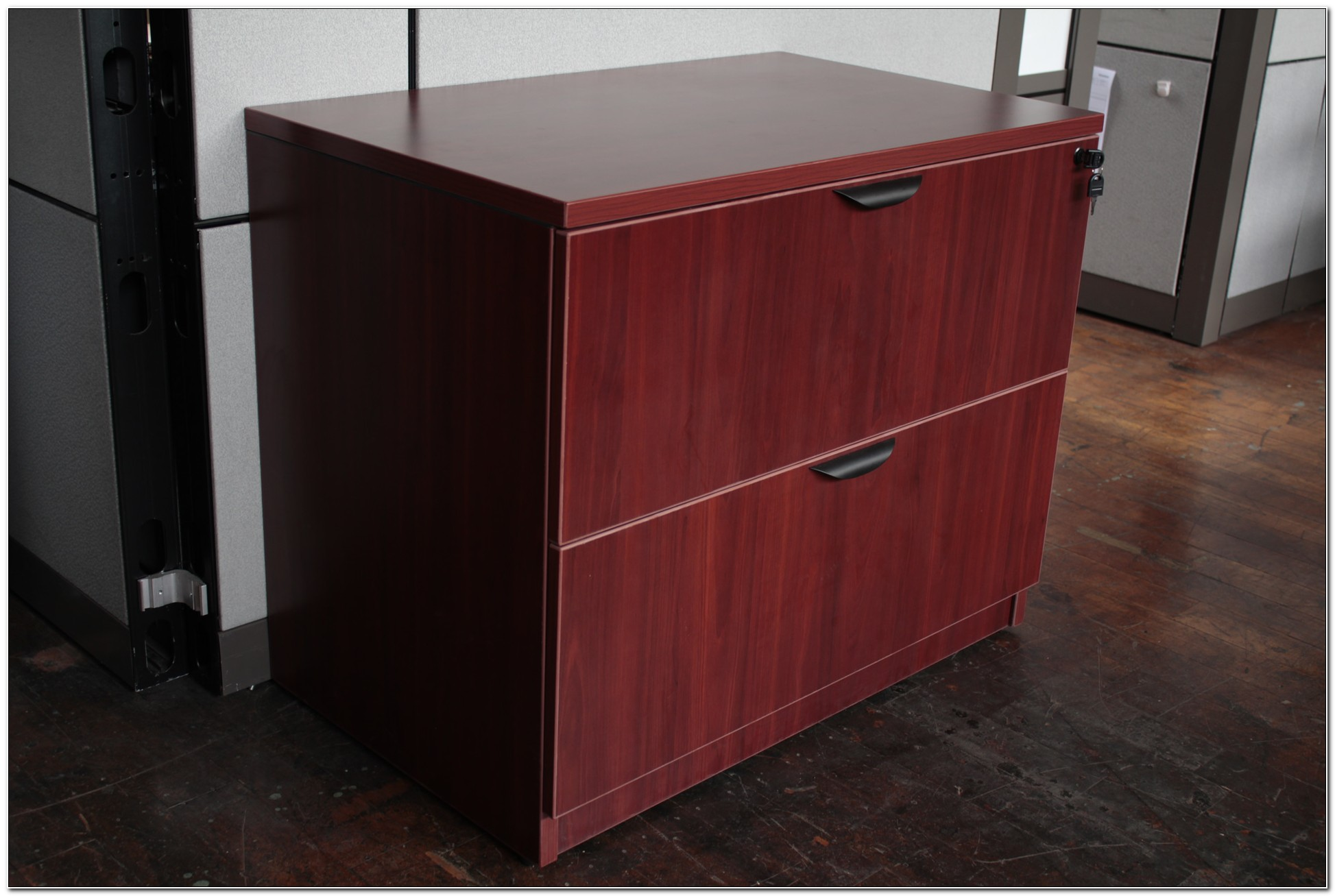 Cherry Lateral File Cabinet 2 Drawer
