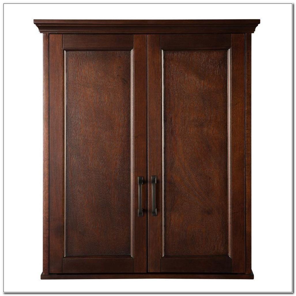 Cherry Wood Bathroom Wall Cabinets