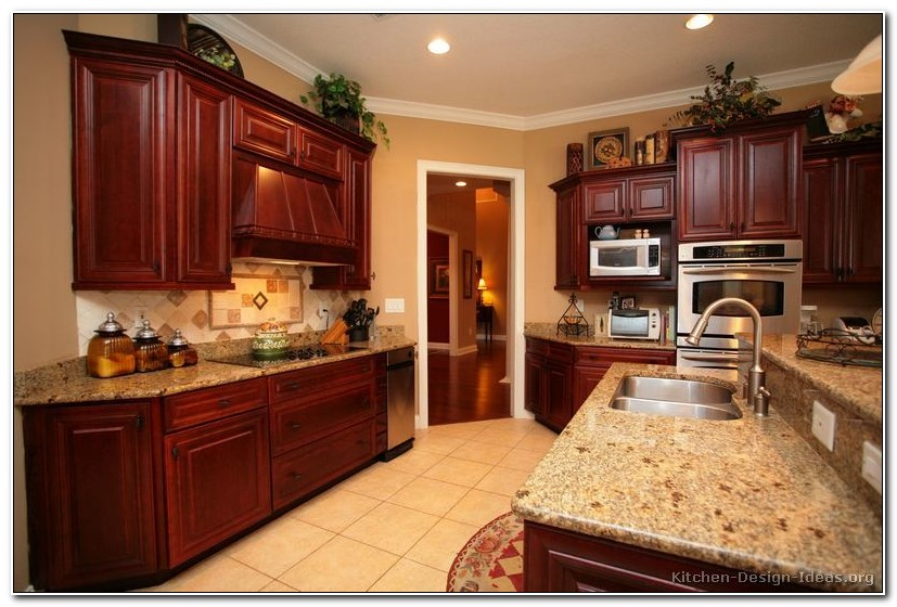 Cherry Wood Cabinet Kitchen Designs