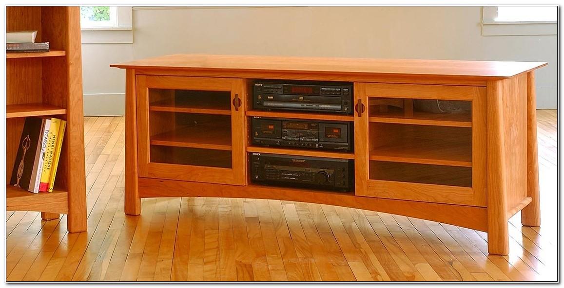 Cherry Wood Media Cabinet
