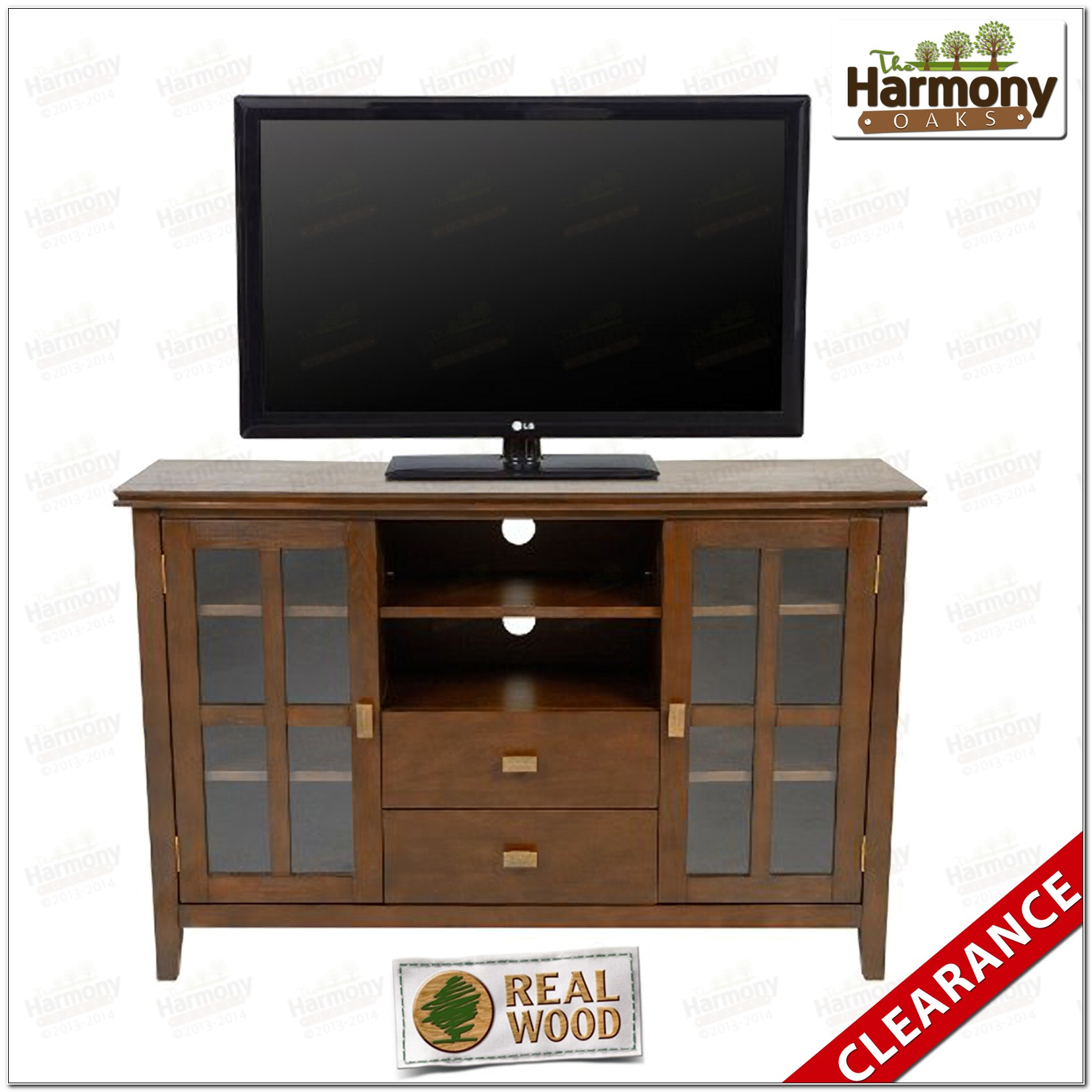 Cherry Wood Media Stands