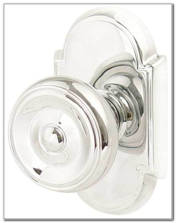 Chrome Cabinet Knobs With Backplate
