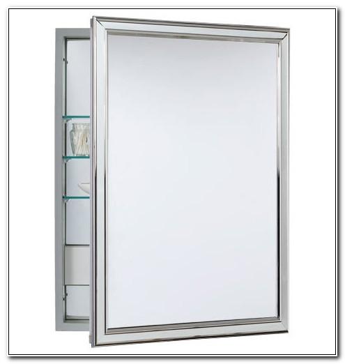 Chrome Framed Recessed Medicine Cabinet