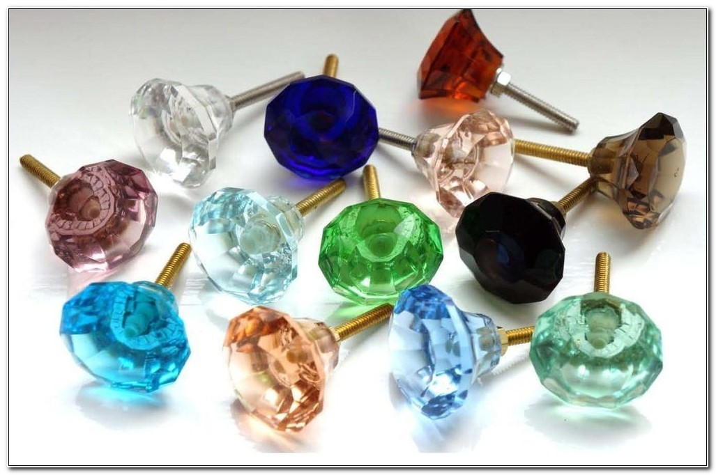 Coloured Glass Cabinet Door Knobs