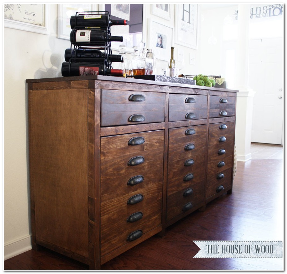 Console Cabinet With Drawers