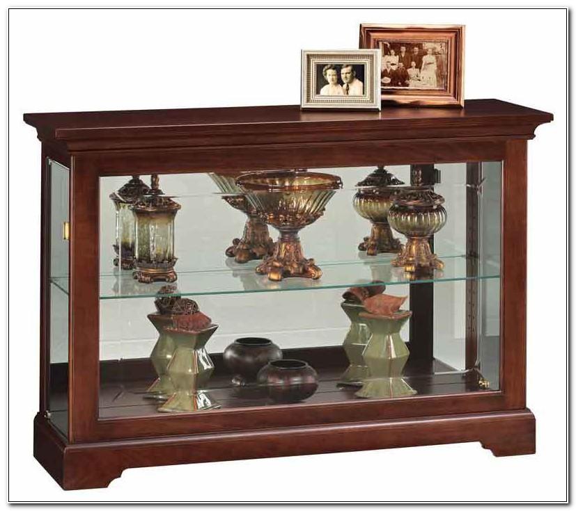 Console Curio Display Cabinet