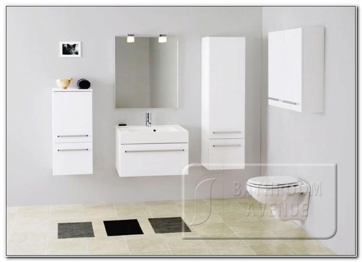 Contemporary White Bathroom Wall Cabinet