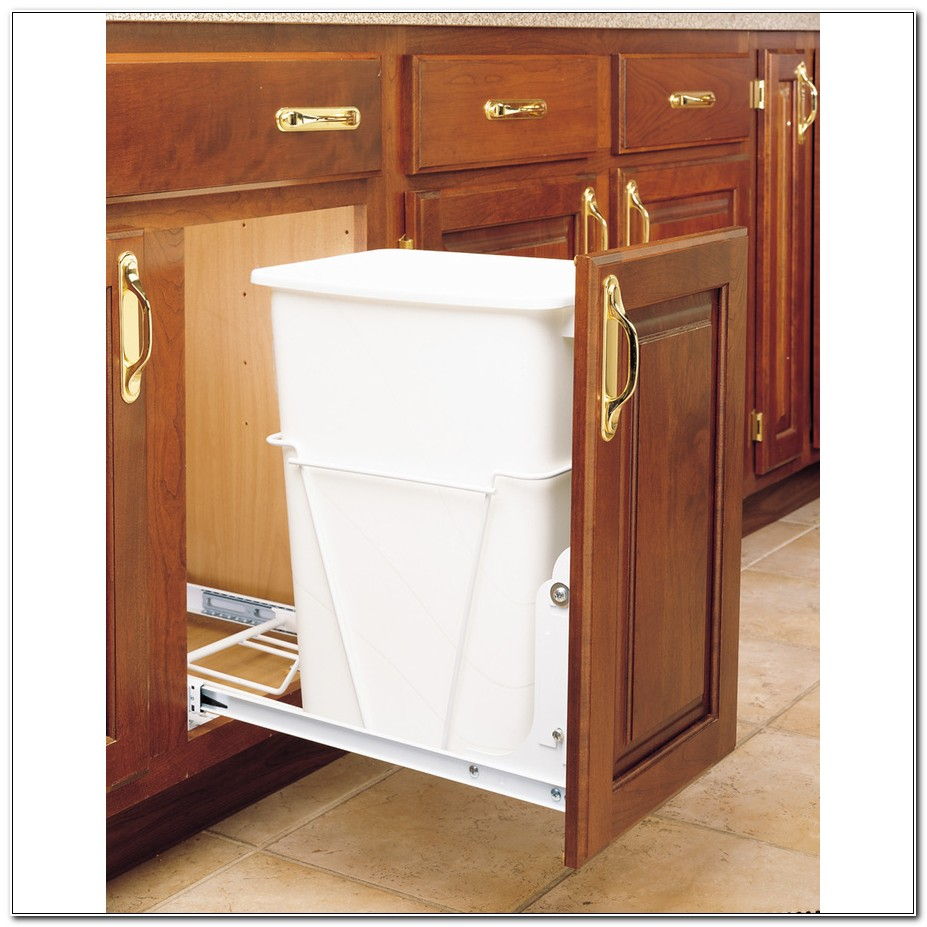 Convert Kitchen Cabinet To Trash Pull Out