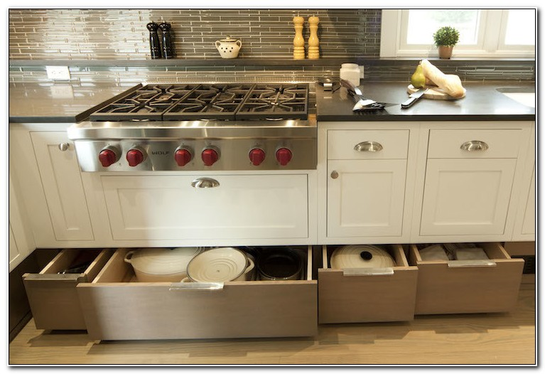 Cooktop Cabinet With Drawers