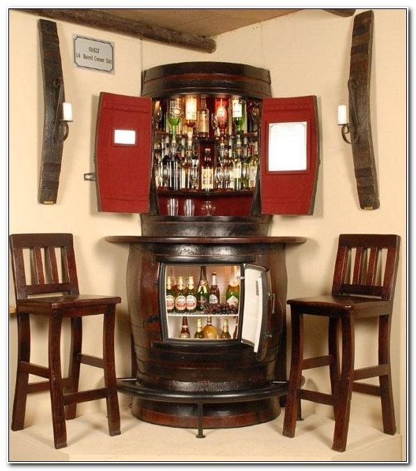 Corner Bar Cabinet With Fridge