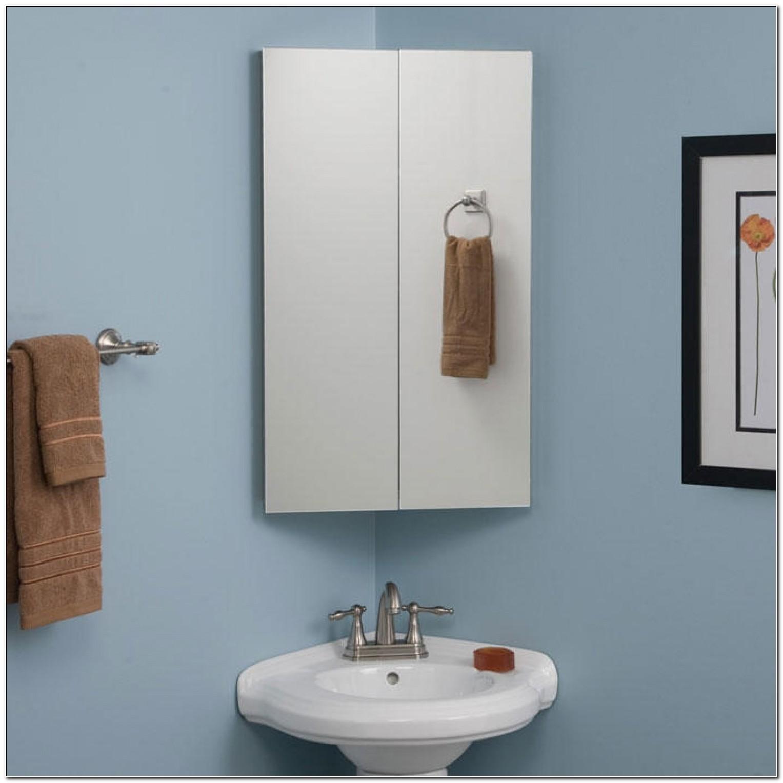 Corner Bathroom Mirror Medicine Cabinet