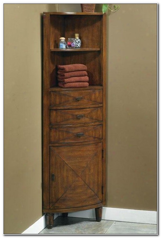 Corner Bathroom Shelf Cabinet