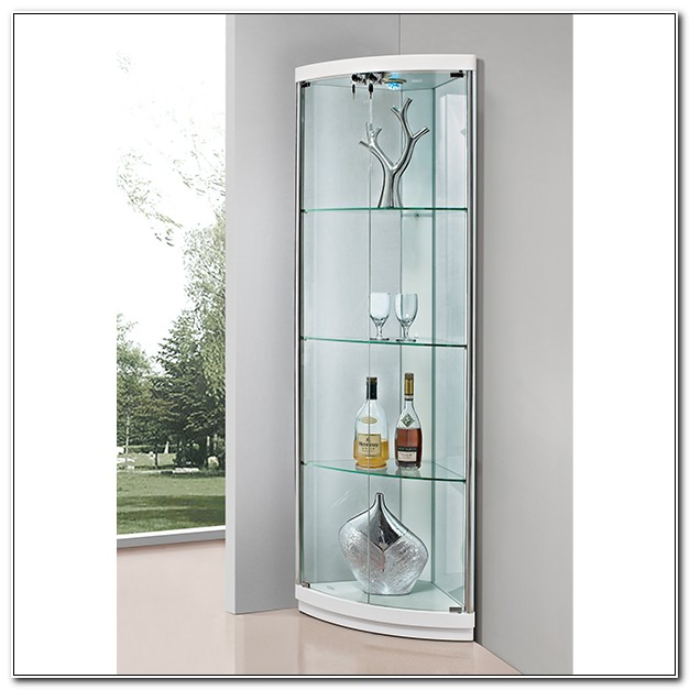 Corner Glass Curio Display Cabinet