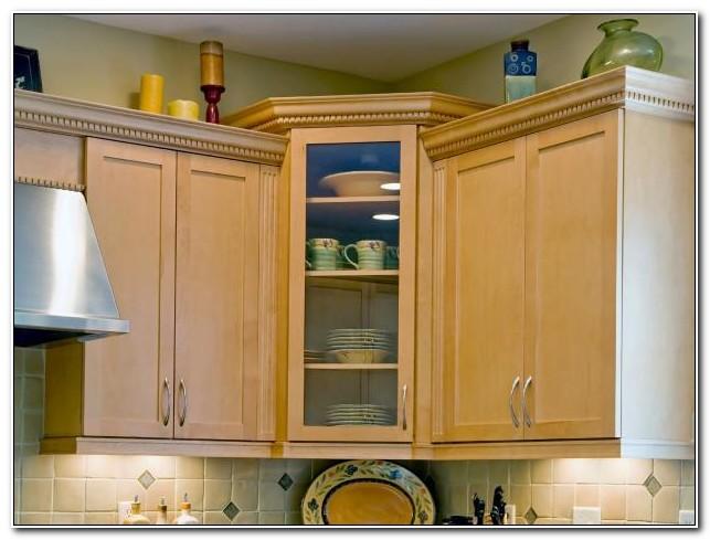 Corner Kitchen Cabinet Decorating Ideas