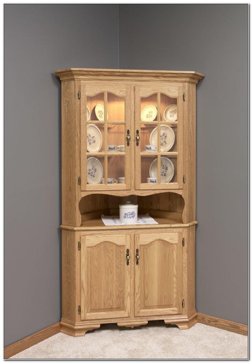 Corner Kitchen Hutch Cabinet