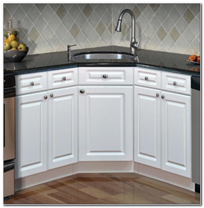 Corner Sink Kitchen Cabinet Design