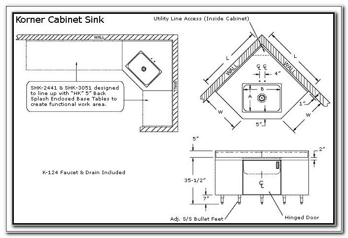 Corner Sink Kitchen Cabinet Dimensions