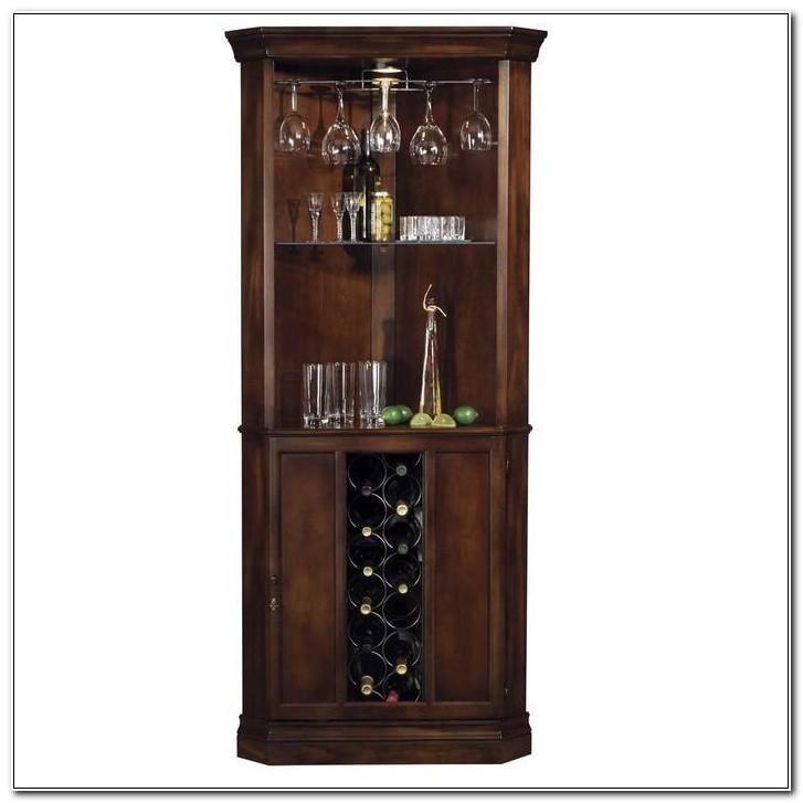 Corner Wine And Liquor Cabinet