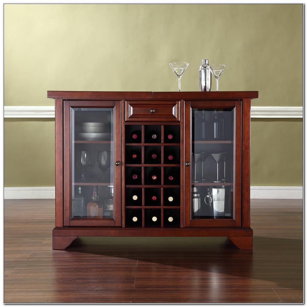 Crosley Furniture Lafayette Sliding Top Bar Cabinet