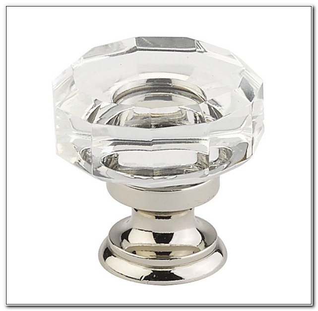 Crystal And Polished Nickel Cabinet Knobs