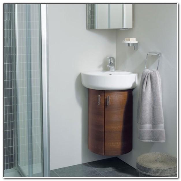 Curved Corner Bathroom Wall Cabinet