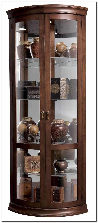 Curved Corner Curio Cabinet