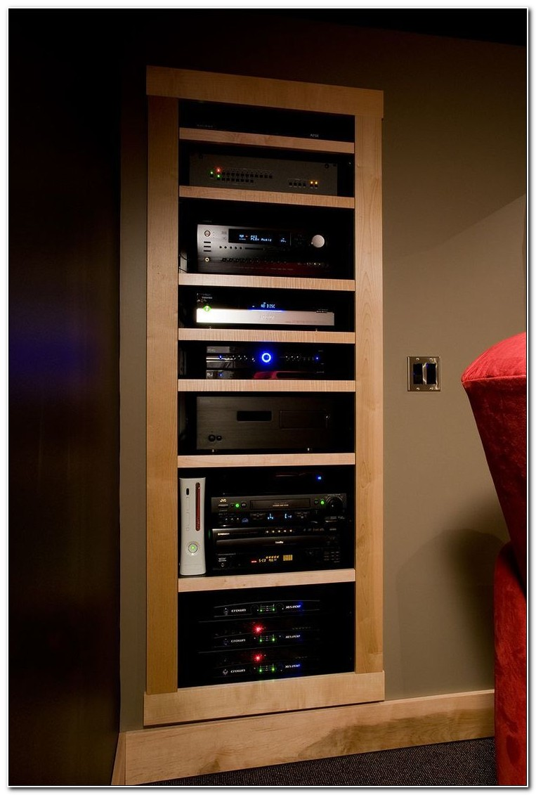 Custom Built In Stereo Cabinet