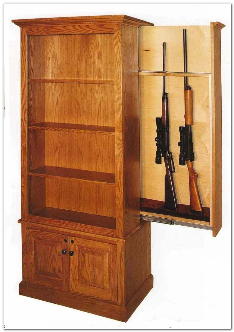Custom Built Wooden Gun Cabinets