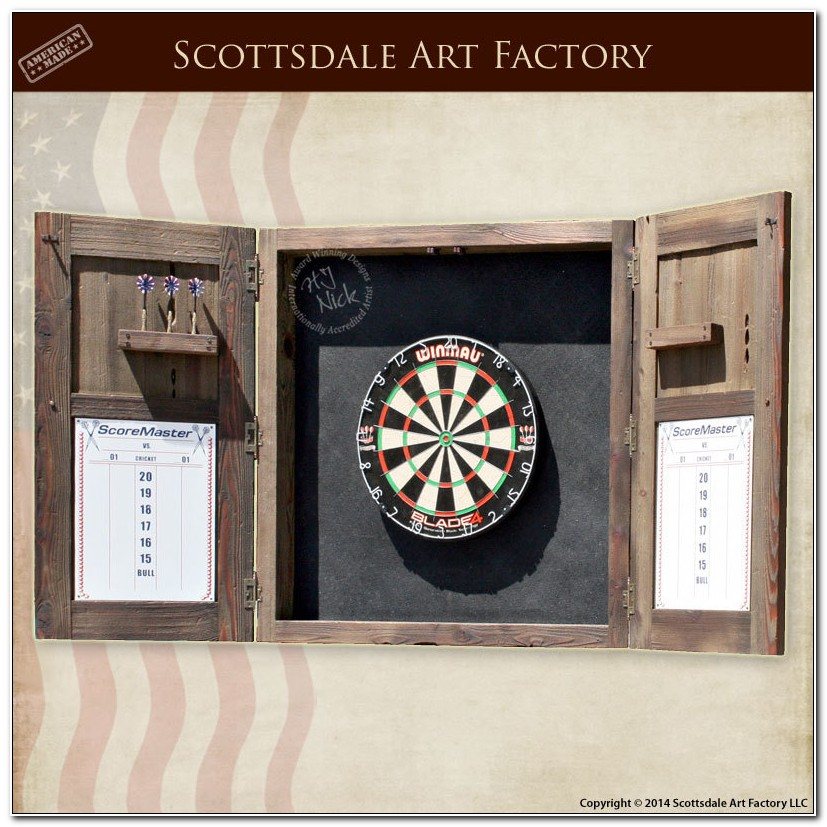 Custom Dart Board Cabinet