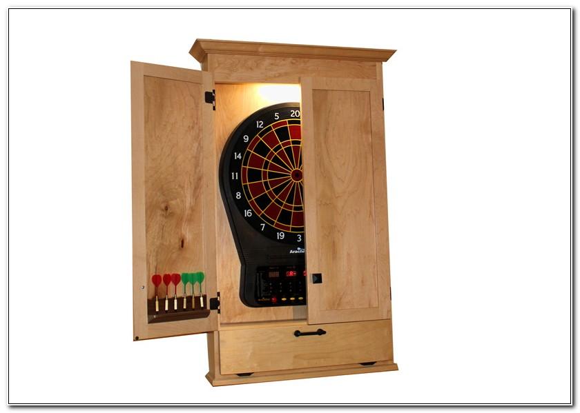 Custom Electronic Dart Board Cabinet