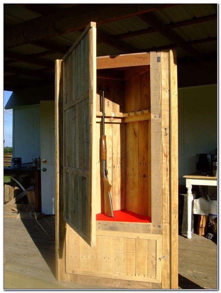 Custom Wood Gun Cabinets Plans