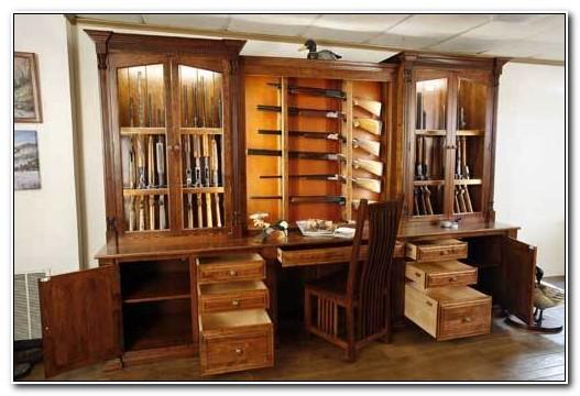 Custom Wood Gun Cabinets