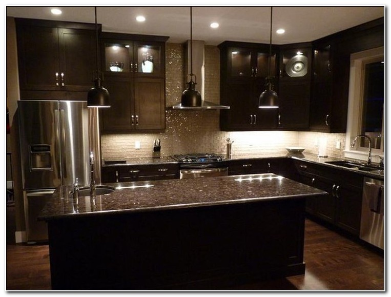 Dark Brown Kitchen Cabinet Ideas