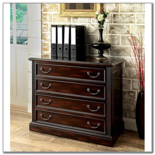 Dark Cherry 2 Drawer File Cabinet