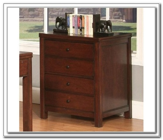 Dark Cherry Lateral File Cabinet