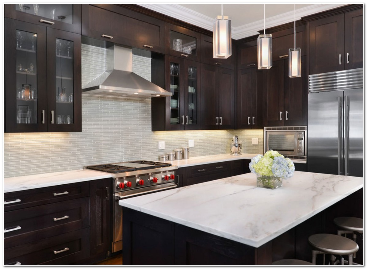 Dark Kitchen Cabinet Images