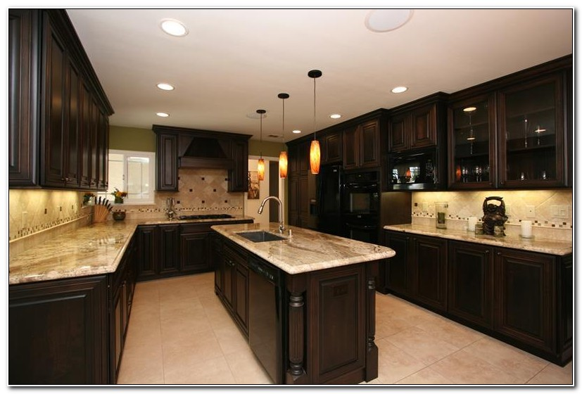 Dark Kitchen Cabinet Remodel