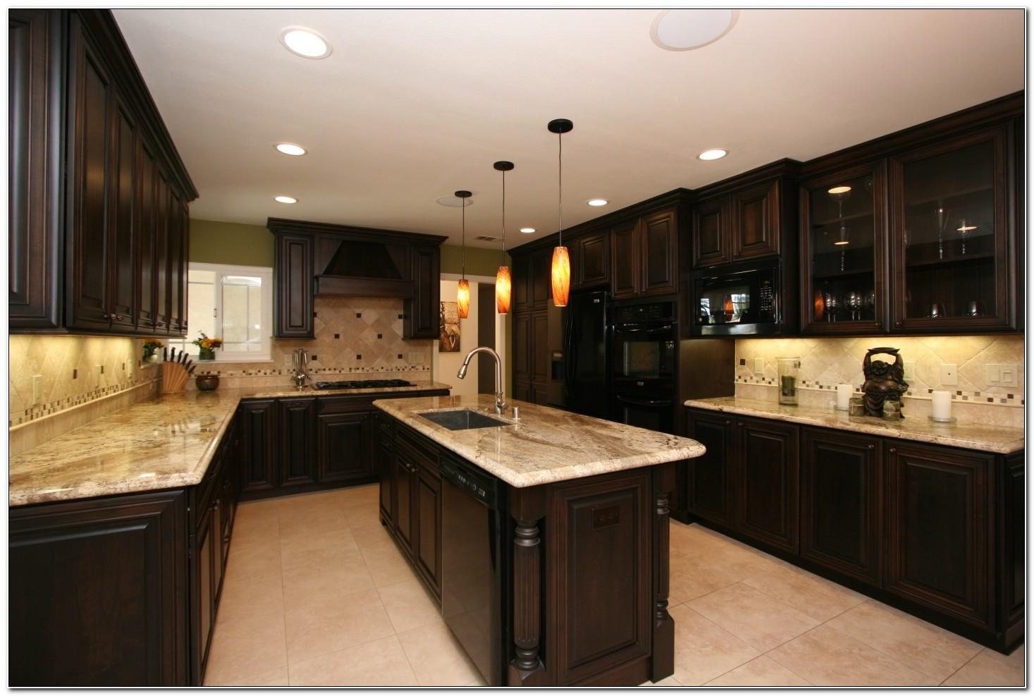 Dark Kitchen Cabinets Backsplash Ideas