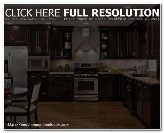 Dark Kitchen Cabinets Design Ideas