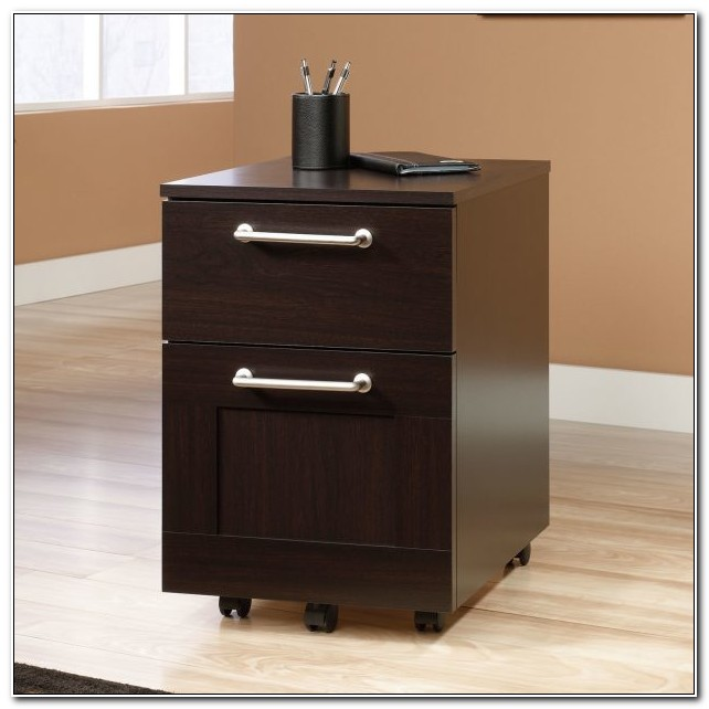 Dark Wood Filing Cabinet