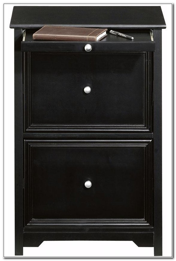 Dark Wooden Filing Cabinets