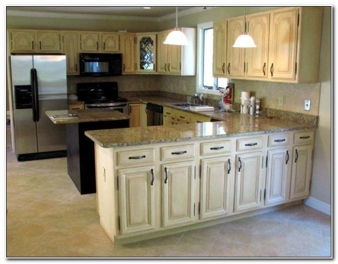 Distressed White Kitchen Cabinets Photos