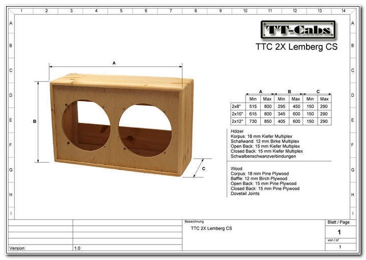 Diy 2x12 Guitar Speaker Cabinet Plans