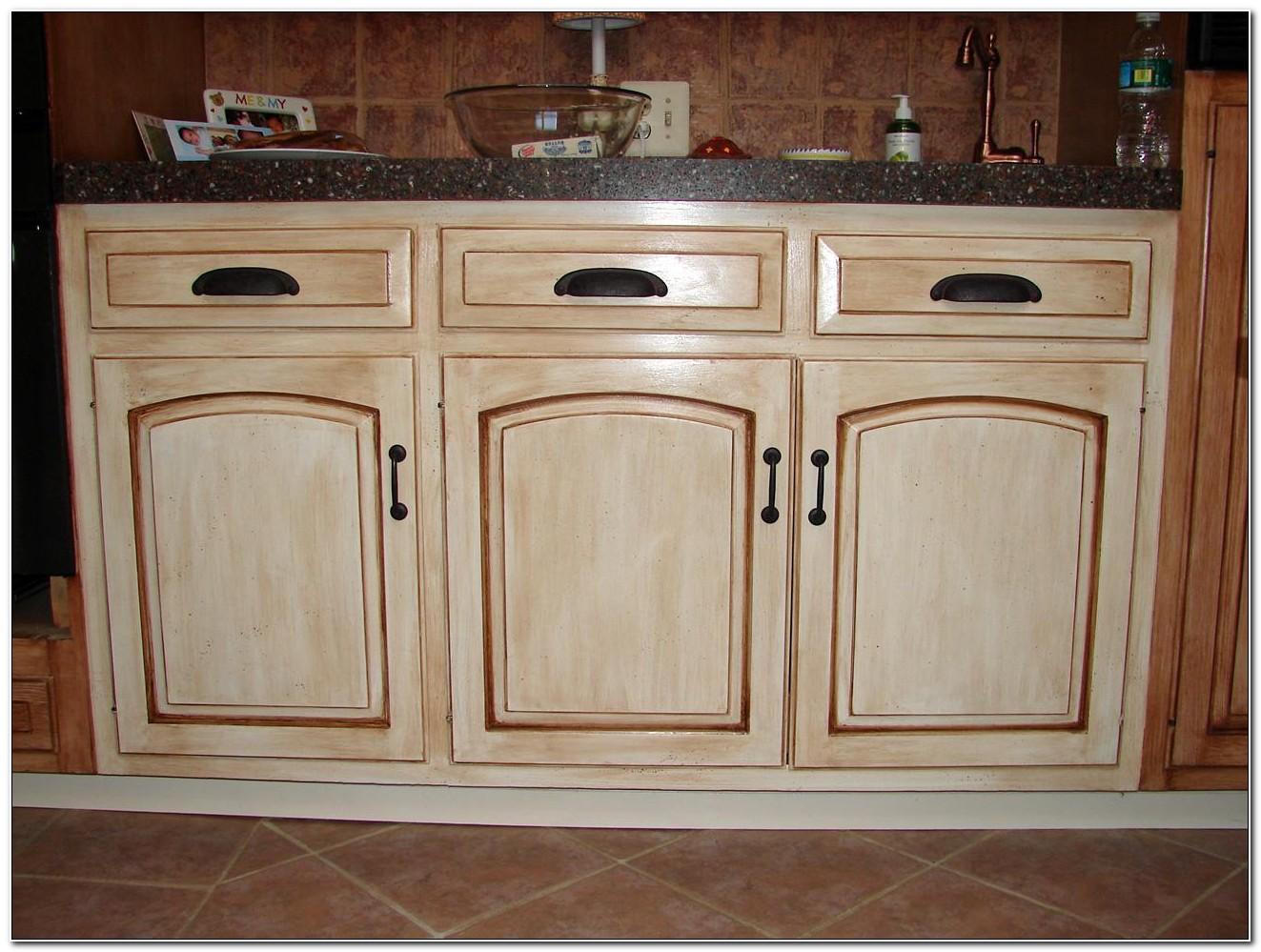 Diy Antique Paint Kitchen Cabinets
