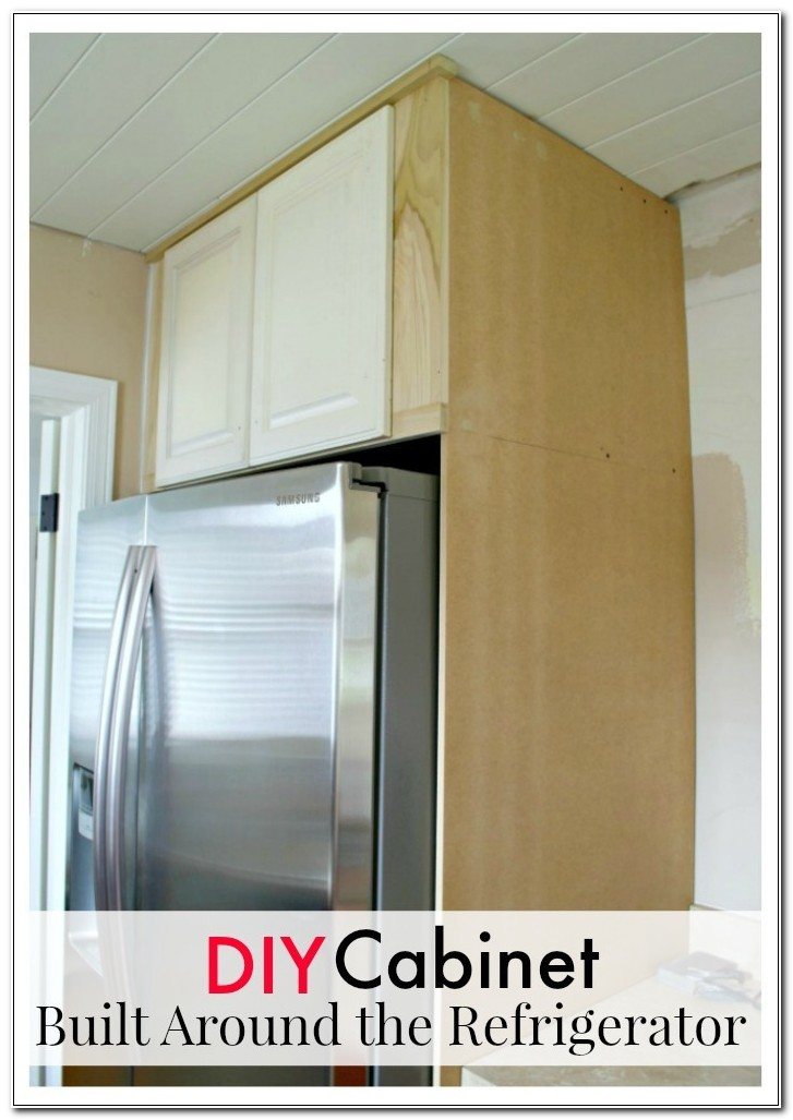 Diy Built In Refrigerator Cabinet