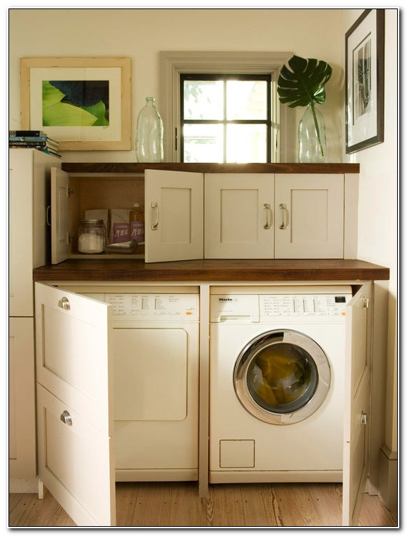Diy Cabinet To Hide Washer And Dryer