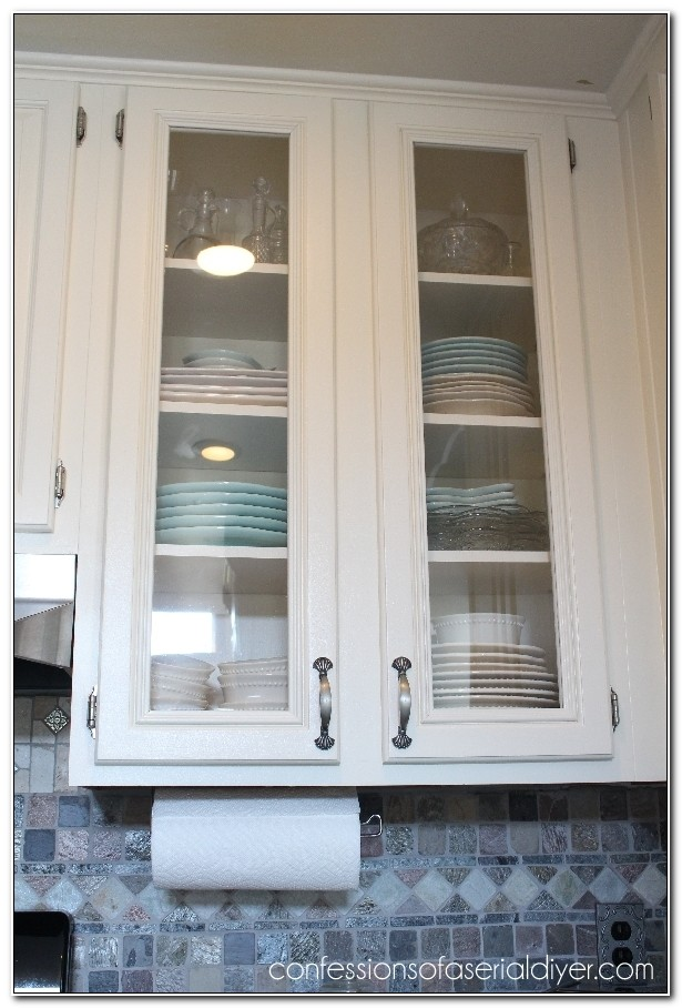 Diy Glass Front Kitchen Cabinets