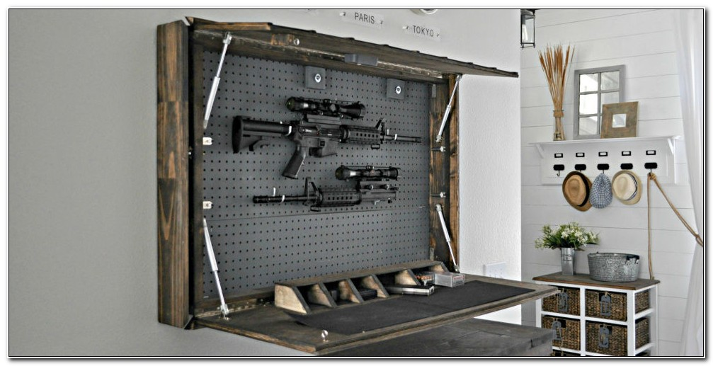 Diy Hidden Gun Cabinet Plans