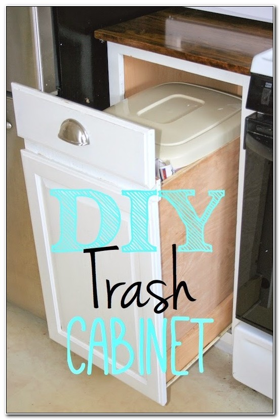 Diy Trash Can Pull Out Cabinet